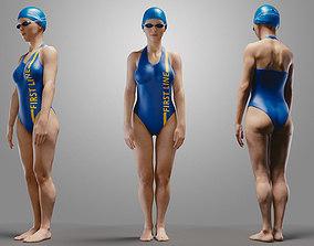 3D SwimmingpoolgirlCasualA