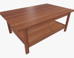 Wooden Modern Coffe Table 3D model