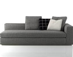3d model powell sofa system