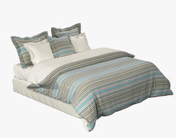 King Size Bed Set 3D