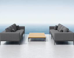 3d outdoor sofas and table set
