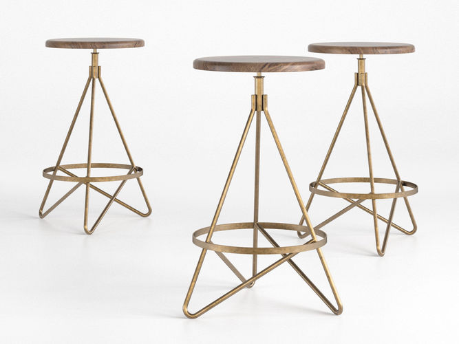 wyndham swivel stool 3d model max obj mtl fbx c4d skp mxs 1