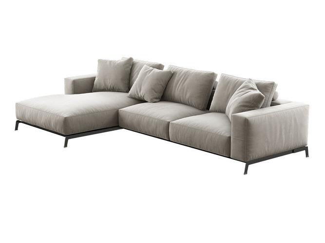 ettore corner sofa 3d model max obj 3ds fbx c4d 3dm 1