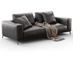3d ettore 2 seater sofa