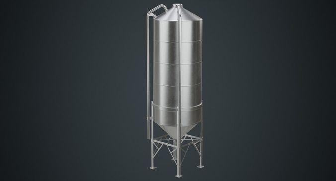 silo 2b 3d model low-poly obj mtl fbx blend 1
