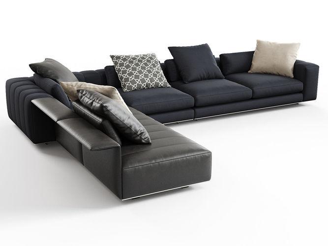 freeman corner sofa system b 3d model max obj fbx c4d skp mxs 1