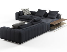 3d model freeman corner sofa system c