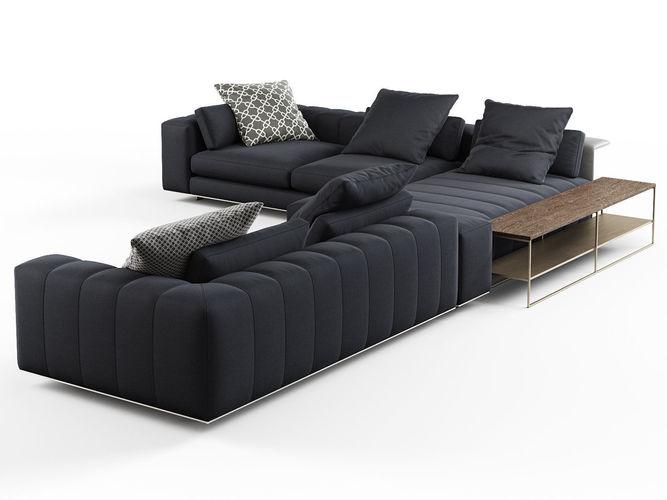 freeman corner sofa system c 3d model max obj mtl fbx c4d skp mxs 1