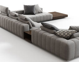 3d freeman corner sofa system g