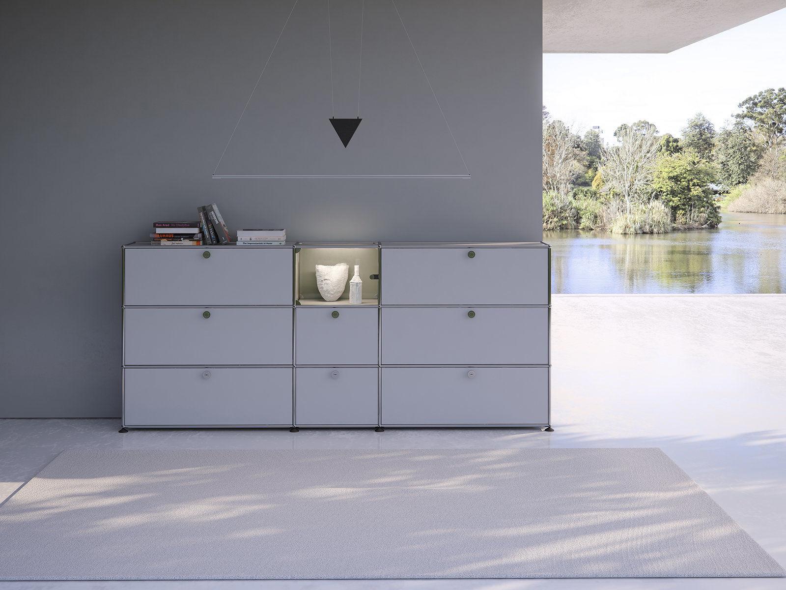Filum USM Pendant Light and Illuminated Cabinet
