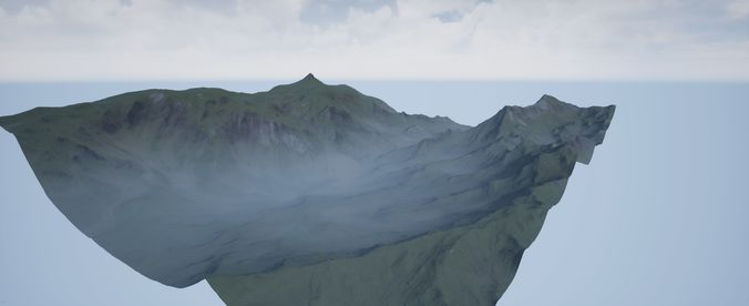 vr ar mr xr render ready mountain 3d model obj mtl 3ds fbx stl blend 1