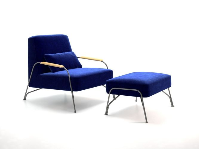 humphrey armchair and footstool 3d model max obj mtl fbx skp mxs pdf 1