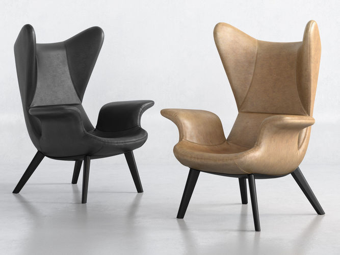 longwave armchair 3d model max obj mtl fbx c4d skp mxs 1