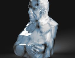 statuette 3D print model The old man bust
