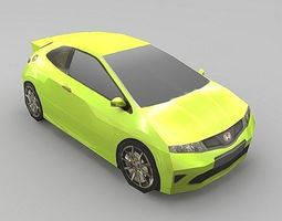 VR / AR ready 3d model honda civic r type