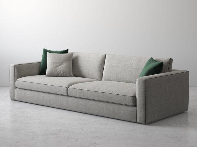 laguna 3 seater maxi sofa 3d model max obj mtl fbx c4d skp mxs 1
