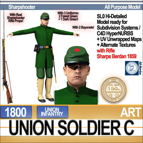 Civil War Union Soldier C Infantry Sharpshooter
