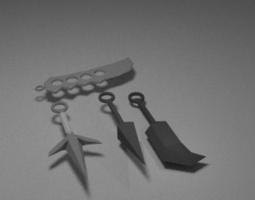 3D asset Ninja Weapon Set
