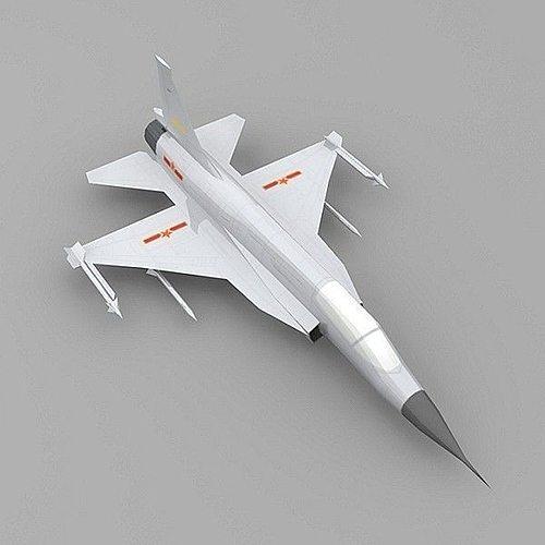 chengdu jf-17 plane 3d model low-poly max obj mtl 3ds ma mb 1