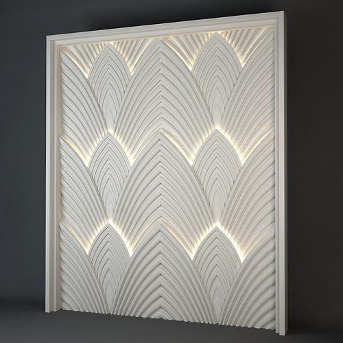 decorative light panel 3d model max obj mtl fbx 1