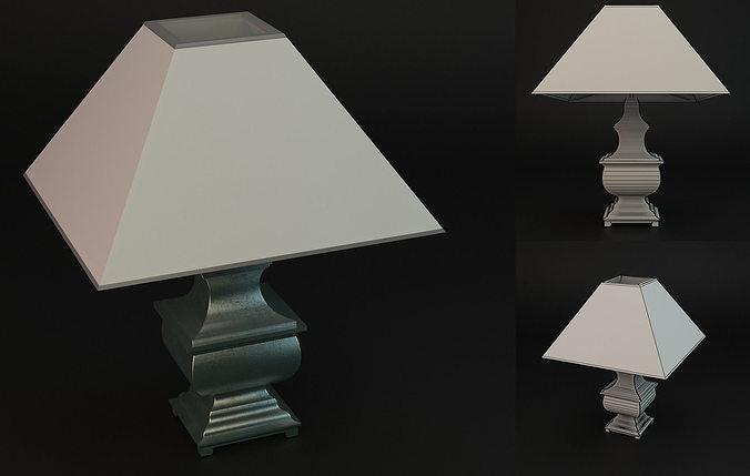 lamp hamilton 3d model max obj mtl fbx 1