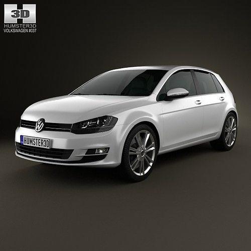 2019 Volkswagen Golf Gti 5 Door: Volkswagen Golf Mk7 5-door 2013 3D Model