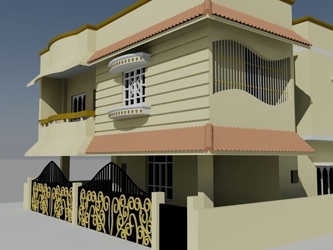 3d model duplex design cgtrader for Decor 3d model