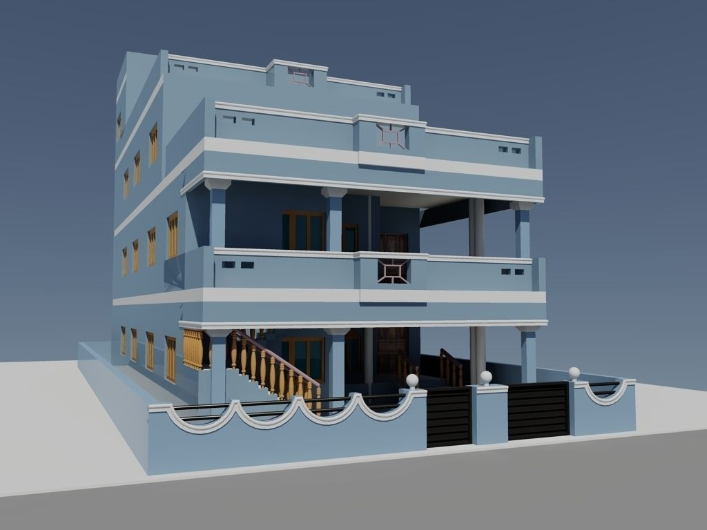 Dubleks villa projesi autocad dubleks villa projesi dwg pictures to -  Duplex House 3d Model Dwg 3