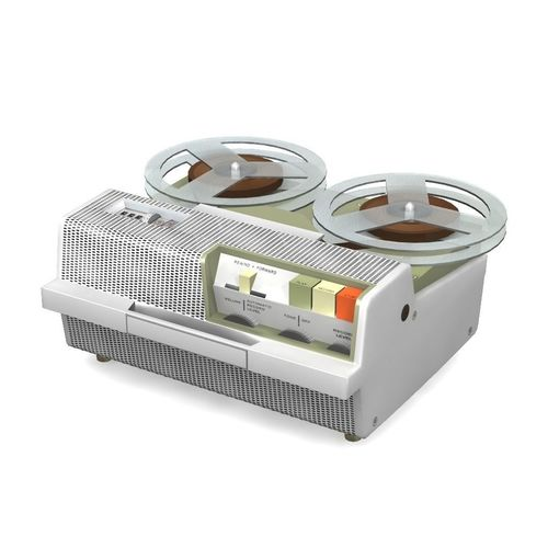 vintage tape recorder 3d model obj mtl fbx lwo lw lws 1