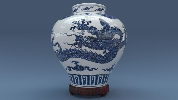 3d Ming Vase Cgtrader