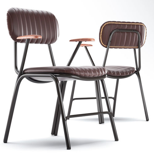 cult living boston metal dining armchair 3d model max obj mtl 3ds fbx 1