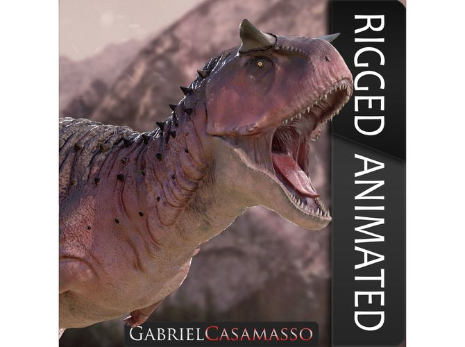 carnotaurus sastrei 3d model obj mtl fbx c4d 1