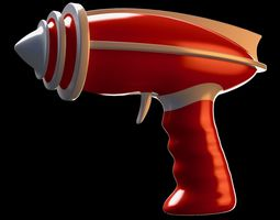 Retro-futuristic Sci-Fi space ray gun - raygun - toy 3D