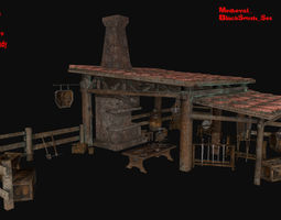 3D model Blacksmith set