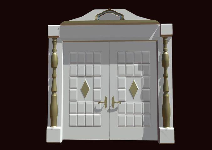 doors for a house 3d model fbx 1