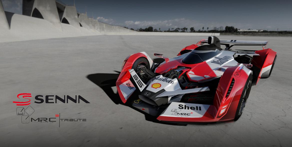 F1 concept senna tribute