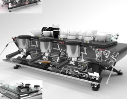 Kees van der Westen Coffee Machine Spirit 3 group 3D model