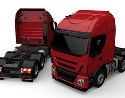 European truck Style Lowpoly 3D asset