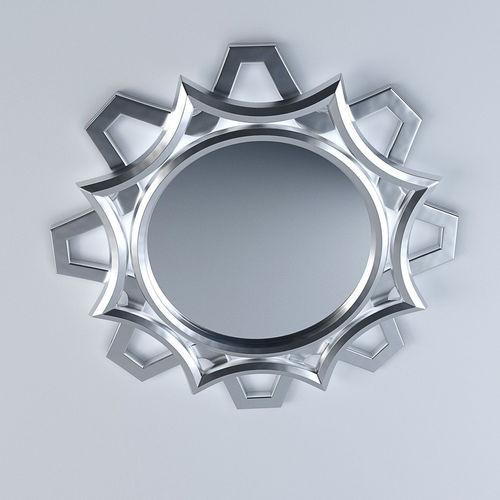 ornamental curvy mirror  3d model max obj mtl 3ds fbx 1