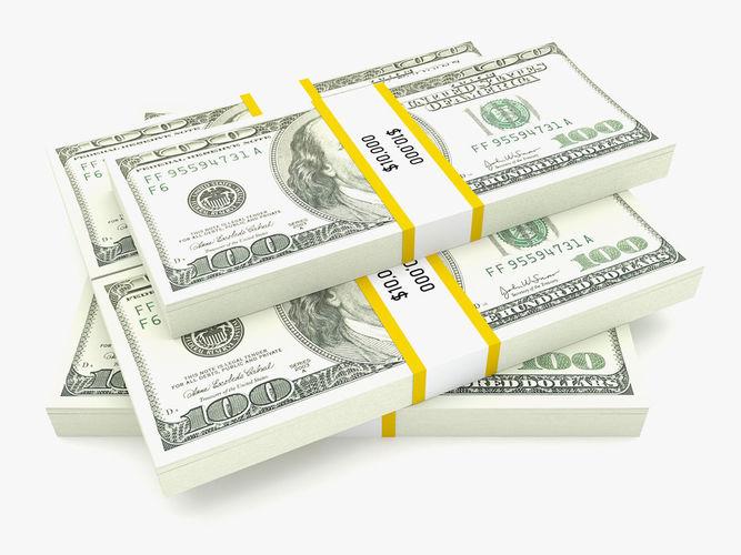 bank collection - 100 dollar bill pack 3d model max obj mtl 3ds fbx c4d ma mb 1