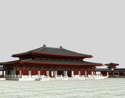 chinese the Great Buddhas Hall 3D Model