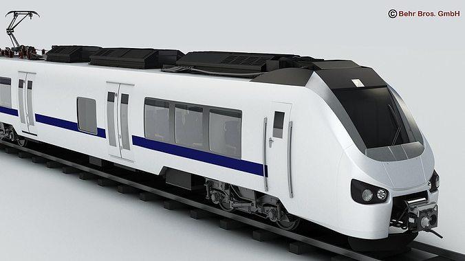 commuter train generic  3d model max obj mtl 3ds fbx c4d lwo lw lws 1