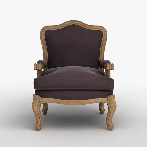 Louis XV Classic Chair 3D Model