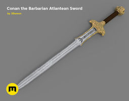 3D model Atlantean Sword from Conan the Barbarian