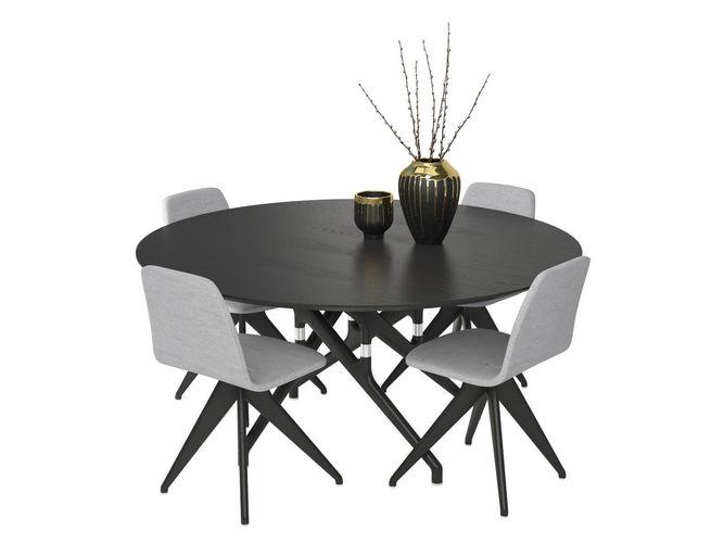 table potocco italy torso 837-t4w and chair torso 837-i 3d model max obj mtl fbx 1