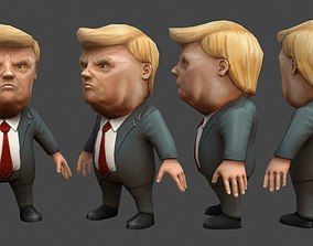 3D model Chibii politicians - Trump