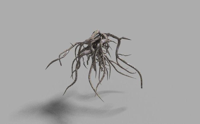 low poly tree root 2 3d model obj mtl 3ds fbx blend dae 1