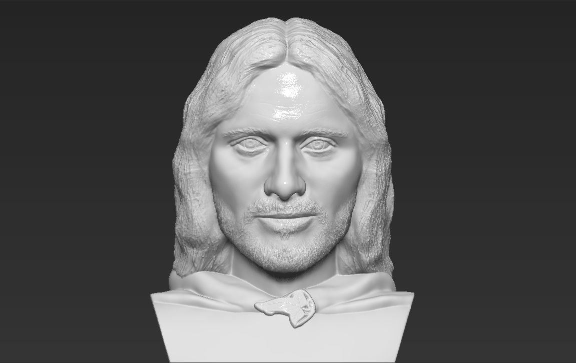 Aragorn bust Lord of the Rings 3D printing ready stl obj formats