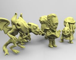 miniatures lovecraft coleccion 3D print model