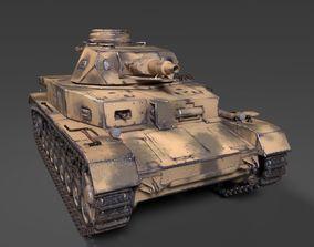 game-ready 3D Panzerkampfwagen IV ausf E of 13